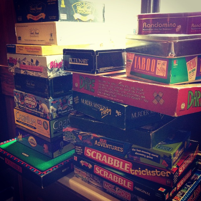 We've built up quite the collection! Board game Sunday anyone?